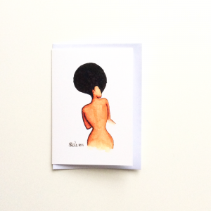Afro Allure Greeting Card by Stacey-Ann Cole