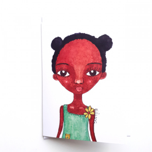 Rosie Girl Greeting Card by Stacey-Ann Cole