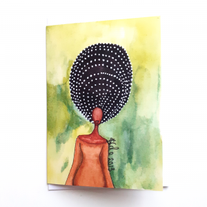 Self Awareness Greeting Card by Stacey-Ann Cole