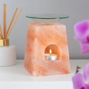 Pink Himalayan Salt Pyramid Oil Burner, mothers day gifts by black-owned business