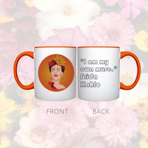 Ffront and back of frida mug