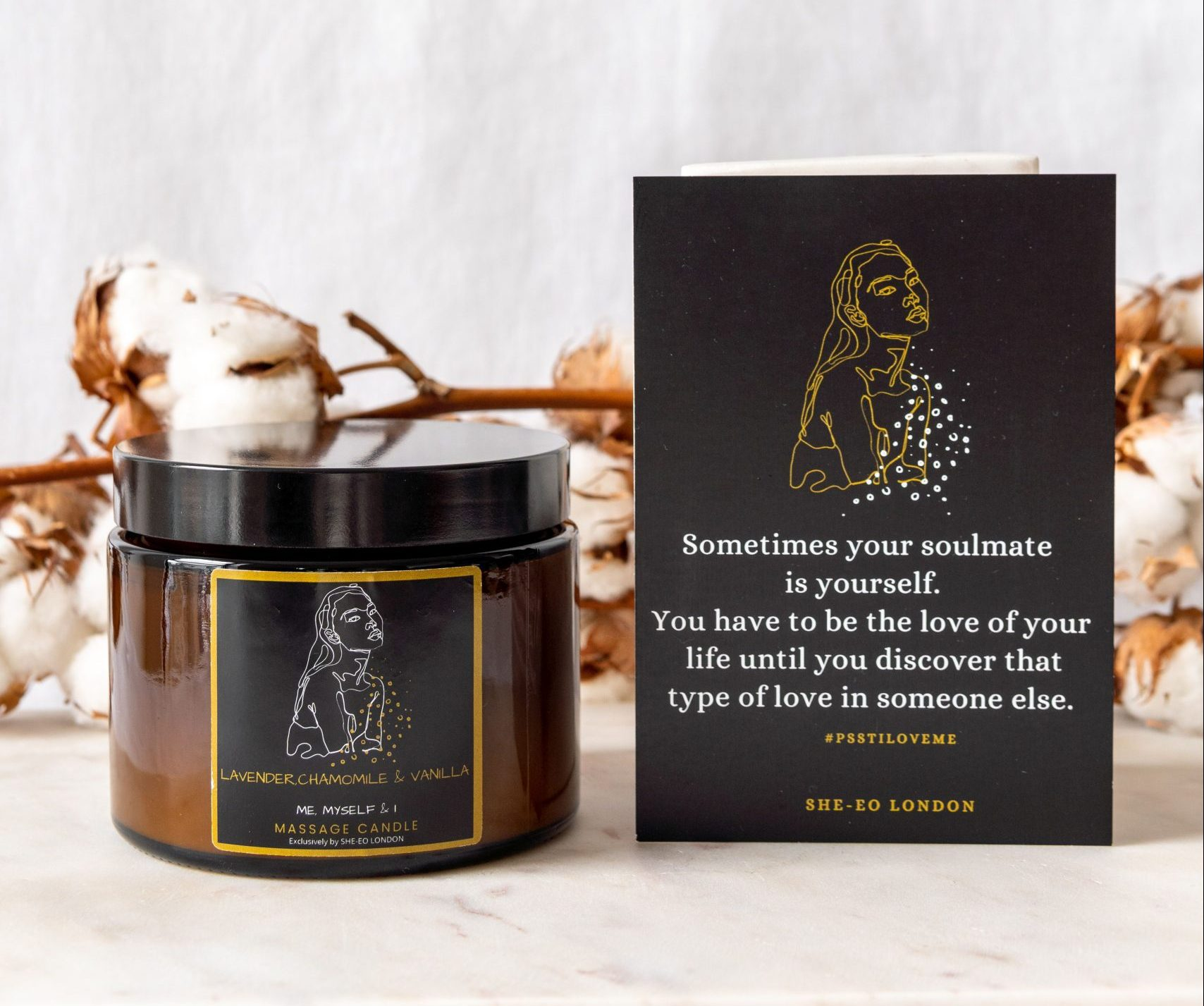 massage candle for valentines day, gifts for her, valentines gifts, black-owned business