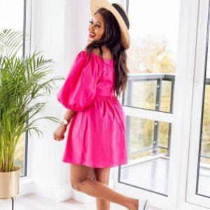 Pink Poplin Dress