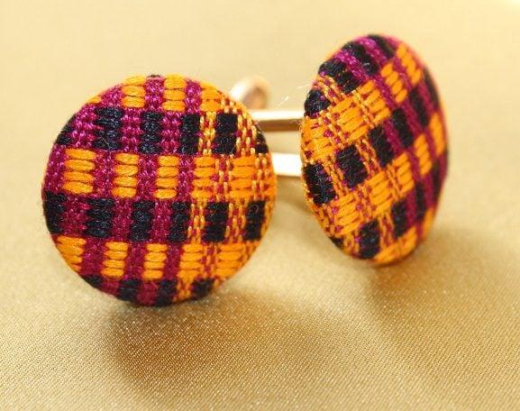 cufflinks, gifts for him, kente cufflinks, ankara cufflinks