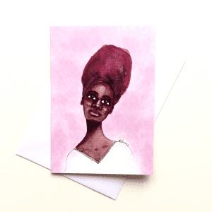 Ebonie Black Woman's Birthday Card by Stacey-Ann Cole