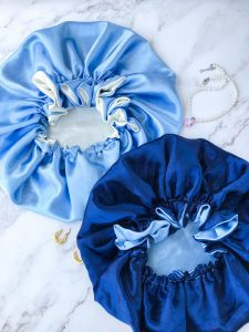 satin and silk bonnets, hair care protection, bonnets by black-owned business