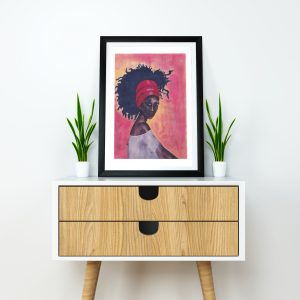 Worthy Print by Stacey-Ann Cole Framed Mockup