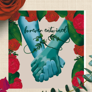 holding hands anniversary card