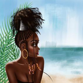 Mya Beach Canvas