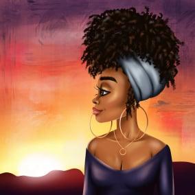 Nala Sunset Canvas