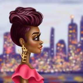Za'Niyah in the City Canvas