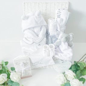 Limited Edition Newborn Hello World Milestone Keepsake Gift Hamper