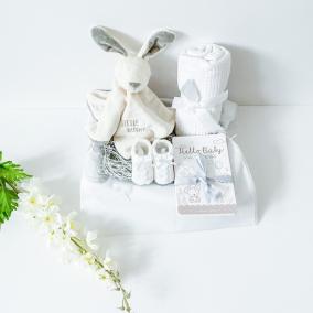 Neutral Bunny baby comforter gift set