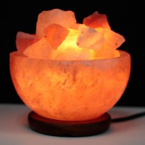 Pink Himalayan Salt Fire Bowl Lamp