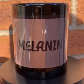 Melanin mug black rainbow