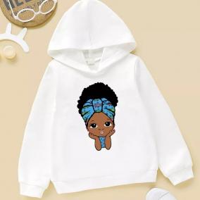 Afro puff girl hoodie