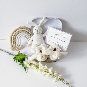 Knitted, Cuddly Bunny baby gift set