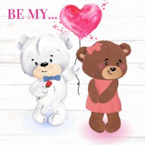 Love is in the Air – Heart Balloon Bears