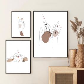 Love Hands Wall Art Print – Gifts for Couples