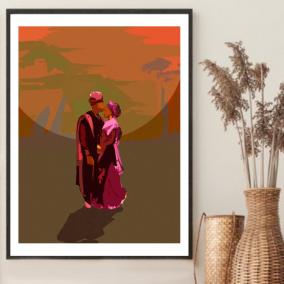 The African Couple Wall Art Print