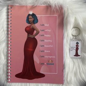 A5 affirmations journal notebook pink ladies women