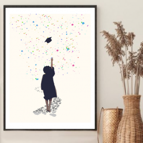 Educated Babe Wall Art – Graduation Gift