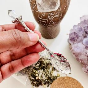 Vintage Crystal Style Altar/Herb Spoon