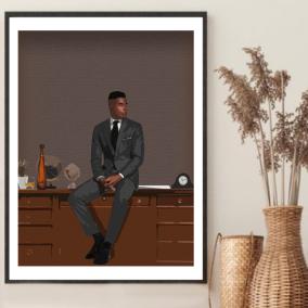 Boss Man Wall Art – Gift for Black Men