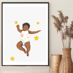 Welcome to the Wolrd Wall Art – Baby Shower Gift