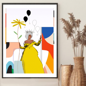 The Matriarch Wall Art – Gift for Mature Black Women