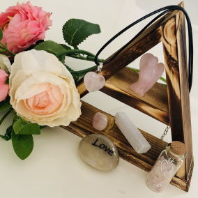 Box of Love – Rose Quartz Crystal Set