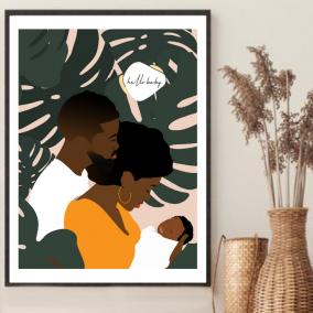 Hello Baby Wall Art – Baby Shower Gift