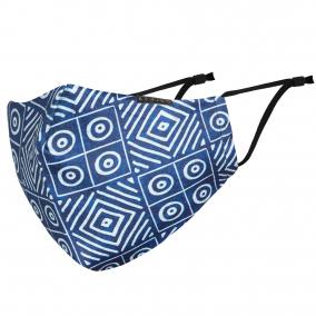 AFRIKO Luxury Face mask – Adire blue