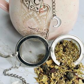 Crystal & Moon Tea Infuser – Rose Quartz, Amethyst or Clear Quartz