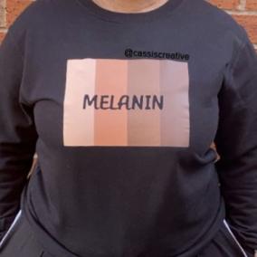 Melanin black sweatshirt jumper for women and men
