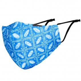 AFRIKO Luxury Face mask – Batik blue