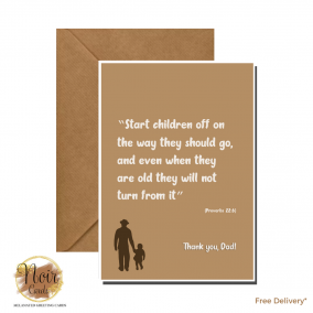 Father's Day Card – Thank You, Dad! #01