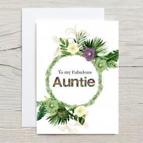 Fabulous Auntie Card