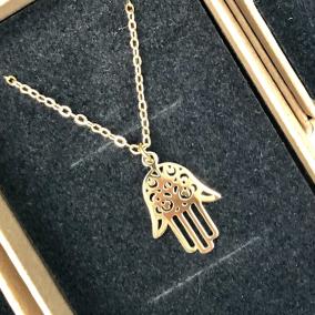 Hamsa Gold Necklace