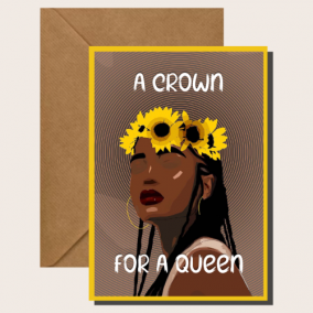 Crown of Flowers- Cards for Women