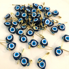 Mini Heart shaped Evil Eye Protection Amulet