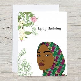 Muslim Woman Hijab Happy Birthday