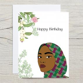 Muslim Woman Hijab Happy Birthday