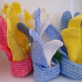 Random Colour Exfoliating Gloves 2pcs