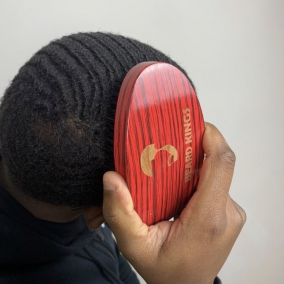 Curved Palm Boar Bristle Wave Brush