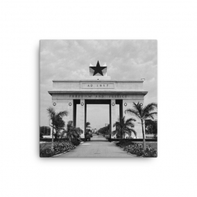 "Photo Print Canvas – ""Nkrumah's Legacy, Mono"""