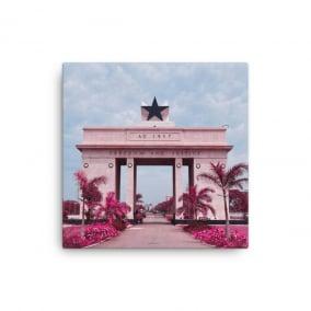 "Photo Print Canvas – ""Nkrumah's Legacy, Pink"""