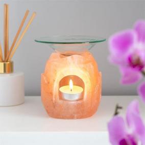 BTMR ZenDen | Pink Himalayan Salt Lotus Flower Oil Burner