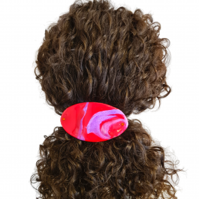Hair Clip French Barrette in Red Purple effect