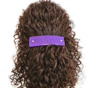 Dark Purple French Barrette Hair